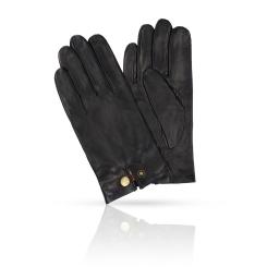 Черные мужские перчатки из плотной натуральной кожи ягненка от Michel Katana, арт. K81-EVENCH/BL