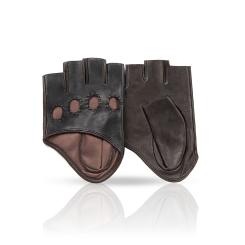 Автомобильные маленькие перчатки из натуральной кожи ягненка от Michel Katana, арт. K81-IA0,5/BL.BR