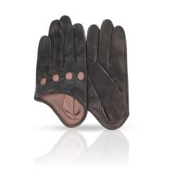 Небольшие женские перчатки из плотной натуральной кожи от Michel Katana, арт. K81-IA1/BL.BR