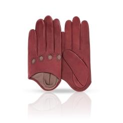Небольшие женские перчатки из натуральной бордовой кожи ягненка от Michel Katana, арт. K81-IA1/BORD