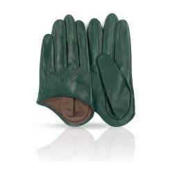 Небольшие женские перчатки из натуральной кожи изумрудного цвета от Michel Katana, арт. K81-IF1/EMER