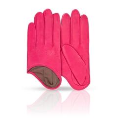 Стильные розовые женские перчатки из натуральной кожи ягненка от Michel Katana, арт. K81-IF1/FUCH