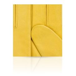 Женские перчатки из натуральной кожи ягненка яркого желтого цвета от Michel Katana, арт. K81-IN1/JAUNE