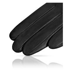 Длинные женские перчатки из натуральной кожи ягненка черного цвета от Michel Katana, арт. K81-INSPIRE_26/BL