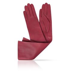 Женские перчатки из натуральной кожи ягненка бордового цвета от Michel Katana, арт. K81-OPERA_26/BORD