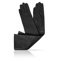 Длинные женские перчатки из натуральной матовой кожи ягненка от Michel Katana, арт. K81-OPERA_29/BL