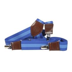 Стильные мужские подтяжки голубого цвета от Miguel Bellido, арт. 40528 ink blue/light blue