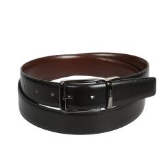 Мужской ремень из натуральной черной кожи, модель под брюки от Miguel Bellido, арт. 430/32 4835/09 black/brown