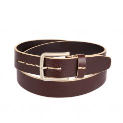 Стильный кожаный ремень коричневого цвета, для мужчин от Miguel Bellido, арт. 4620/40 5608/23 brown 02