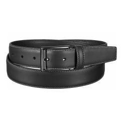 Стильный мужской ремень из черной натуральной кожи, модель для брюк от Miguel Bellido, арт. 385/32 8516/13 black 01