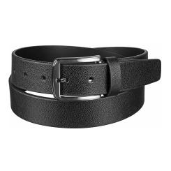 Кожаный мужской ремень для брюк, модель черного цвета от Miguel Bellido, арт. 4190/35 8354 black 01