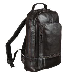 Кожаный мужской рюкзак, коричневого цвета, с одним отделением для ноутбука от Miguel Bellido, арт. 8306 02 brown