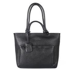 Стильная повседневная женская сумка из черной натуральной кожи от Giorgio Ferretti, арт. 04306 HG01 black GF