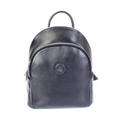 Маленький городской женский рюкзак из черной натуральной кожи от Giorgio Ferretti, арт. 201850062 Q11 black GF