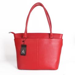Большая женская сумка из натуральной кожи красного цвета от Giorgio Ferretti, арт. 32431A Q52 red GF