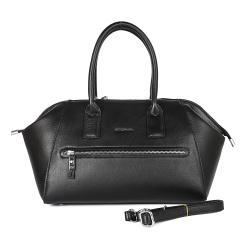 Практичная женская сумка из черной гладкой натуральной кожи от Giorgio Ferretti, арт. 523468 HG01 black GF