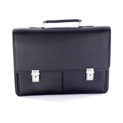 Стильный мужской портфель из натуральной кожи для документов и ноутбука от Giorgio Ferretti, арт. 0001 Q11 black GF