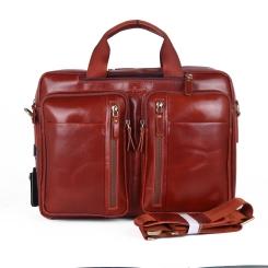 Удобная мужская сумка из гладкой коричневой натуральной кожи от Dor. Flinger, арт. 0603 625A coffee DF