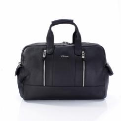 Стильная мужская дорожная сумка из натуральной кожи черного цвета от Giorgio Ferretti, арт. 0053 Q11 black GF