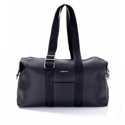Дорожно-спортивная мужская сумка из черной плотной натуральной кожи от Giorgio Ferretti, арт. 0161 Q11 black GF