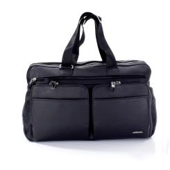 Вместительная дорожная сумка из натуральной кожи, модель для мужчин от Giorgio Ferretti, арт. 0165 Q11 black GF