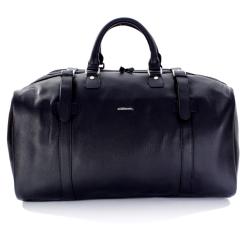 Большая черная мужская дорожная сумка, выполнена из натуральной кожи от Giorgio Ferretti, арт. 107 Q11 black GF