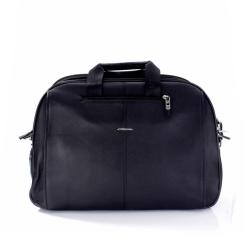Объемная мужская дорожная сумка из натуральной кожи черного цвета от Giorgio Ferretti, арт. 2018394 Q11 black GF