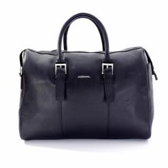 Компактная дорожная мужская сумка из натуральной кожи для поездок и фитнеса от Giorgio Ferretti, арт. 2018404 Q11 black GF