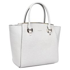 Удобная женская сумка молочного цвета из натуральной кожи с тиснением сафьяно от Palio, арт. 15811A3-111 beige