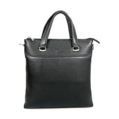 Практичная мужская сумка черного цвета из натуральной кожи от Pellecon, арт. 102-21426-1