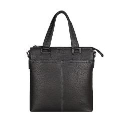 Вместительная сумка для документов из натуральной черной кожи от Pellecon, арт. 102-21536-1