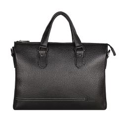 Функциональная мужская кожаная сумка черного цвета, модель с тремя отделениями от Pellecon, арт. 102-21579-1