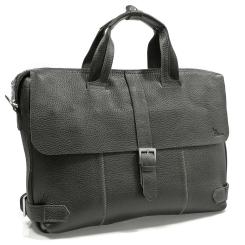 Кожаный мужской портфель черного цвета прямоугольной формы от Pellecon, арт. 102-287-1