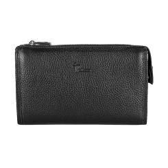 Практичная мужская сумка-клатч из черной натуральной кожи от Pellecon, арт. 102-33413-1