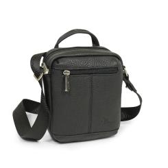 Стильная мужская кожаная сумка черного цвета, для планшета от Pellecon, арт. 102-802-1
