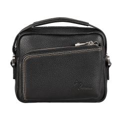 Повседневная мужская маленькая сумка черного цвета из натуральной кожи от Pellecon, арт. 102-81503-1