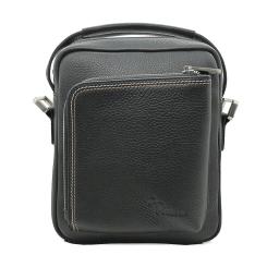 Стильная мужская сумка через плечо из натуральной кожи черного цвета от Pellecon, арт. 102-81504-1