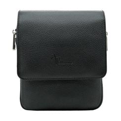 Маленькая мужская сумка через плечо черного цвета из натуральной кожи от Pellecon, арт. 102-81594-1