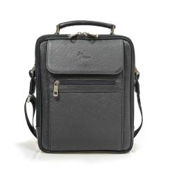 Мужская сумка из натуральной кожи с приятной на ощупь фактурой от Pellecon, арт. 102-820-1