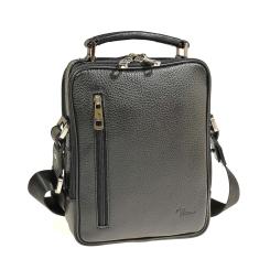 Практичная мужская сумка через плечо из натуральной плотной кожи от Pellecon, арт. 102-821-1