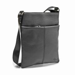 Мужская сумка-планшет из натуральной кожи классического черного цвета от Pellecon, арт. 102-826-1