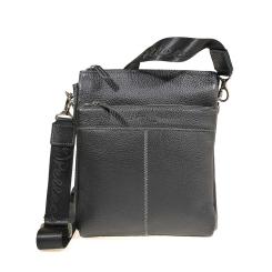 Мужская сумка из черной натуральной кожи с естественной фактурой от Pellecon, арт. 102-863-1