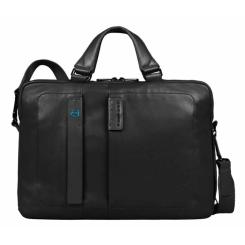Красивая и удобная в пользовании мужская деловая сумка для документов и ноутбука от Piquadro, арт. CA1903P15/N