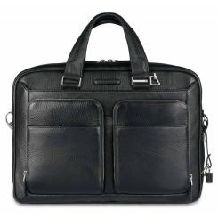Большая мужская деловая сумка из натуральной кожи, для документов и ноутбука от Piquadro, арт. CA2849MO/N