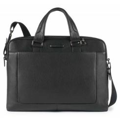 Практичная мужская деловая сумка, модель для документов и ноутбука от Piquadro, арт. CA3335MO/N