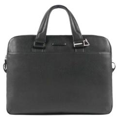 Практичная мужская кожаная сумка с двумя отделами для ноутбука и документов от Piquadro, арт. CA3339MO/N