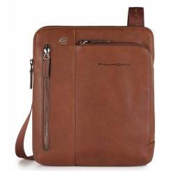 Стильная коричневая мужская сумка планшет из мягкой натуральной кожи от Piquadro, арт. CA1816B3/CU
