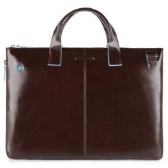 Женская деловая сумка из натуральной кожи коричневого цвета, для ноутбука от Piquadro, арт. CA4021B2/MO