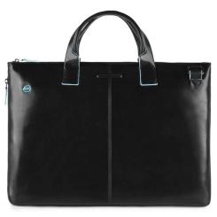 Женская деловая сумка из натуральной кожи черного цвета, для ноутбука от Piquadro, арт. CA4021B2/N