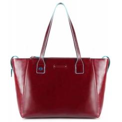 Практичная и стильная женская сумка из мягкой красной натуральной кожи от Piquadro, арт. BD3883B2/R